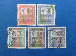 1978 1979 ITALIA ALTI VALORI SERIE COMPLETA FRANCOBOLLI USATI ITALY STAMPS USED - 6. 1946-.. Republic