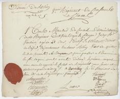 Armée Du Rhin Westheim An 2 - 24.6.1794 Régiment Chasseur à Cheval Montreux Vieux 'Déserteur' Beau Sceau - Documenti Storici