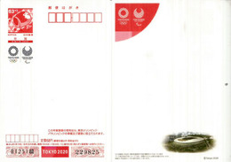 Tokyo 2020 Olympic & Paralympic. Entier Postal Special (Postal Stationery)  Stade Olympique Tokyo.  Neuf / Mint - 1989-... Emperor Akihito (Heisei Era)