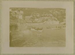 Coups De Lames Sourdes Le Long De Villefranche-sur-mer (Alpes-Maritimes). Barques. 1899. - Alte (vor 1900)
