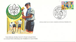 Algeria FDC Card 21-10-1982 World Scout Stamp Collection With Nice Cachet - Storia Postale