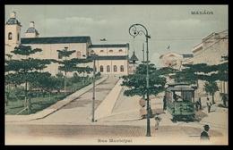 MANAUS - ELECTRICOS - Rua Municipal. ( Ed. Agencia Freitas )  Carte Postale - Manaus