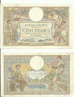 3 Billets  De  100 Francs 1 De  1938. 1 De 1931.1 De 1932 - 1871-1952 Antichi Franchi Circolanti Nel XX Secolo