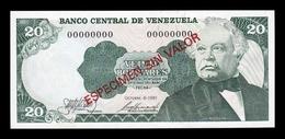 Venezuela 20 Bolívares 1981 Pick 63As Specimen SC UNC - Venezuela