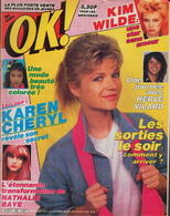 OK ! N° 358 11-1982 - KAREN CHERYL - KIM WILDE - NATHALIE BAYE - ROXY MUSIC - HERVE VILARD - - Musique