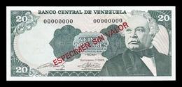 Venezuela 20 Bolívares 1989 Pick 63Bs Specimen SC UNC - Venezuela