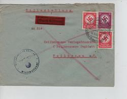89PR/ Deutsches Reich Express Brief C.Saulgau 1943 > Heilbronn Censored - Germany