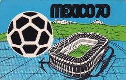 FOOTBALL STADIUM - ESTADIO AZTECA, MEXICO. HOST OF THE 1970 WORLD SOCCER CHAMPIONSHIP. POSTAL WITH PLUSH -LILHU - Calcio