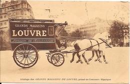 Attelage Des GRANDS MAGASINS DU LOUVRE Primé Au Concours Hippique - Exposition Des Robes Et Manteaux - Mostre