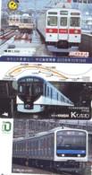 3 Carte Prépayée JAPON Différentes * CHEMIN DE FER (LOT TRAIN A-96) JAPAN * 3 TRAIN DIFFERENT PHONECARDS - Treinen