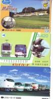 3 Carte Prépayée JAPON Différentes * CHEMIN DE FER (LOT TRAIN A-97) JAPAN * 3 TRAIN DIFFERENT PHONECARDS - Trains