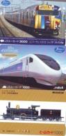 3 Carte Prépayée JAPON Différentes * CHEMIN DE FER (LOT TRAIN A-98) JAPAN * 3 TRAIN DIFFERENT PHONECARDS - Treinen
