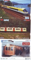 3 Carte Prépayée JAPON Différentes * CHEMIN DE FER (LOT TRAIN A-99) JAPAN * 3 TRAIN DIFFERENT PHONECARDS - Trains