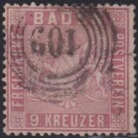 Baden    .    Michel   .   12  (2 Scans)     .    O      .   Gebraucht    .   /   .   Cancelled - Baden