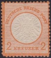Deutsches Reich  .    Michel   .   24  (2 Scans)   .   Dunn   .   *  .   Ungebraucht Mit Gummi   .   /   .   Mint-hinged - Alemania