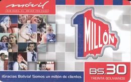 TARJETA DE BOLIVIA DE Bs 30  DE 1 MILLON - Bolivia