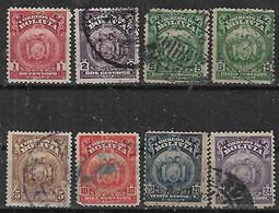 1919 Bolivia Escudos 8v. - Bolivien