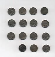 3104 - Lotto Di 15 Monete 5 Cent Buffalo. - America Centrale