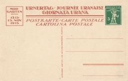Schweiz - 1915 - 5c Tellknabe, Postkarte Urnertag Mortgarten - Not Sent - Stamped Stationery