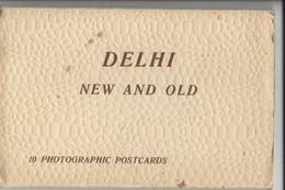 25132 - DELHI New And Old  (carnet De 10 Cartes) - Inde