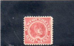 TERRE-NUEVE 1887 SANS GOMME - Newfoundland