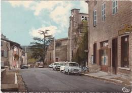 Rhone : LIERGUES : Café-restaurant Et L'église - Automobile - 4L - Renault - C.p.s.m. M. - Grand Format - Autres Communes