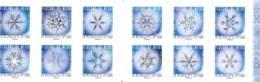 Flocons De Neige En Microscope Optique 2018 - Carnet Neuf Non Plié De 12 TVP Lettre Verte  Timbres France - Markenheftchen
