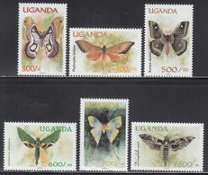 "2000 Uganda Butterflies ""Local Design"" Complete Set Of 6 MNH - Uganda (1962-...)"