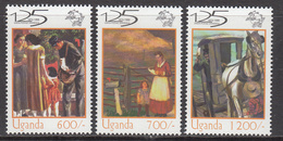 2000 Uganda UPU Horses Complete Set Of 3 MNH - Uganda (1962-...)