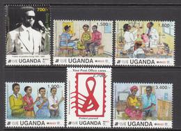 2012 Uganda AIDS SIDA Health  Complete Set Of 6 MNH - Uganda (1962-...)