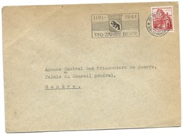 """116 - 21 - Enveloppe Avec Oblit Mécanique """"750 Jahre Bern 1191-1941"""" - Postmark Collection"""