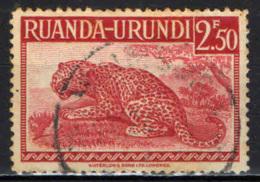 RUANDA URUNDI - 1942 - LEOPARDO - USATO - Ruanda