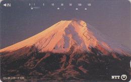 Télécarte Japon / NTT 111-080 - Montagne MONT FUJI -  Mountain Japan Phonecard - Berg Telefonkarte - 364 - Volcanes