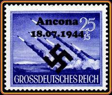 WW2 - Nazi Germany Wunderwaffe Unposted Stamp 25+15  With Overprint Ancona 18.07.1944 -  Großdeutsches Reich / Grossdeut - Deutschland