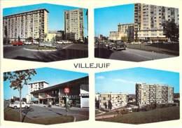 94 - VILLEJUIF : Multivues ( Immeubles HLM Cité Centre Commercial Résidence ) CPSM Grand Format - Val De Marne - Villejuif