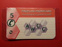 AFGHANISTAN 5u Fixed Line Phonecard AWCC Neuve Sous Blister Pas GSM MINT NSB NEUVE (BA1019B - Afghanistan