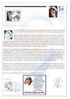 """Très Rare Car Perso : """" MERE TERESA """" Sur Document A4 1er Jour De 2010. N° YT 4455. Parfait état DPO - Mère Teresa"""