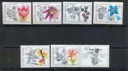 Bulgarie (Bulgaria) MNH ** 154 N° 3418 / 3423 Fleurs (fleur Flower Flowers) Plantes Médicinales - Plantes Médicinales