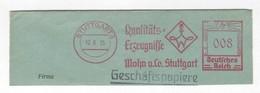 Deutschtes Reich AFS - STUTTGART, Quallitäts-Erzeugnisse - Mohn U. Co. Stuttgart 1935 - Machine Stamps (ATM)