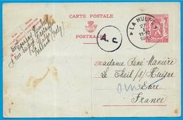 1941 CPA Entier Postal Belgique Belgie LA HULPE à France 61 LE THEIL-sur-HUISNE Orne (Guerre Réfugiés Voir Texte) Phila - Weltkrieg 1939-45