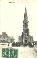 MESSAC  --  La Place Et L'Eglise                                             -- Mary-Rousselière 474 - France