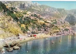 POSITANO-SALERNO-SPIAGGIA FORNILLO-CARTOLINA VERA FOTOGRAFIA -VIAGGIATA IL 18-3-1963 - Salerno