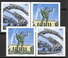 Suède 1993 N°1754/1755 Neufs En Paires Norden Tourisme - Unused Stamps