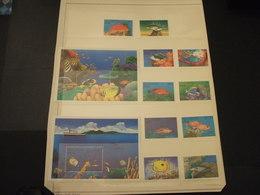 MALDIVES - 1992 PESCI 5 + 5 VALORI + 2 BF - NUOVI(++) - Maldive (1965-...)