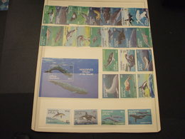 MALDIVES - 1993 FAUNA MARINA 12 + 12 + 4 VALORI +  BF - NUOVI(++) - Maldive (1965-...)