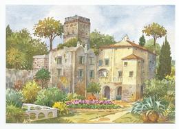Salerno, Ravello - Villa Rufolo Da Un Acquarello Di G.Ospitali - Illustratori & Fotografie