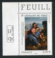 "TIMBRE** Gommé De 2019 En Coin De Feuille  ""2,10 € - LEONARD DE VINCI"" - Frankrijk"
