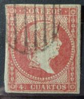 SPAIN 1855 - Canceled - Sc# 37 - 4c - Gebraucht