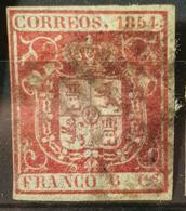 SPAIN 1854 - Canceled - Sc# 26 - 6c - Gebraucht