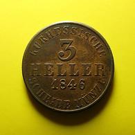 Germany Hesse-Cassel 3 Heller 1846 Perhaps Fake Weight 5.5 Grams - Monedas Pequeñas & Otras Subdivisiones